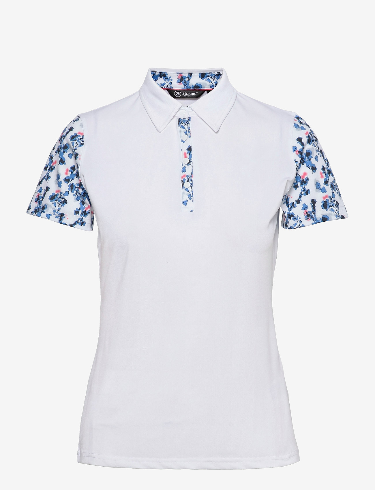 Abacus - Lds Anne polo - polo's - white/bl.heaven - 0