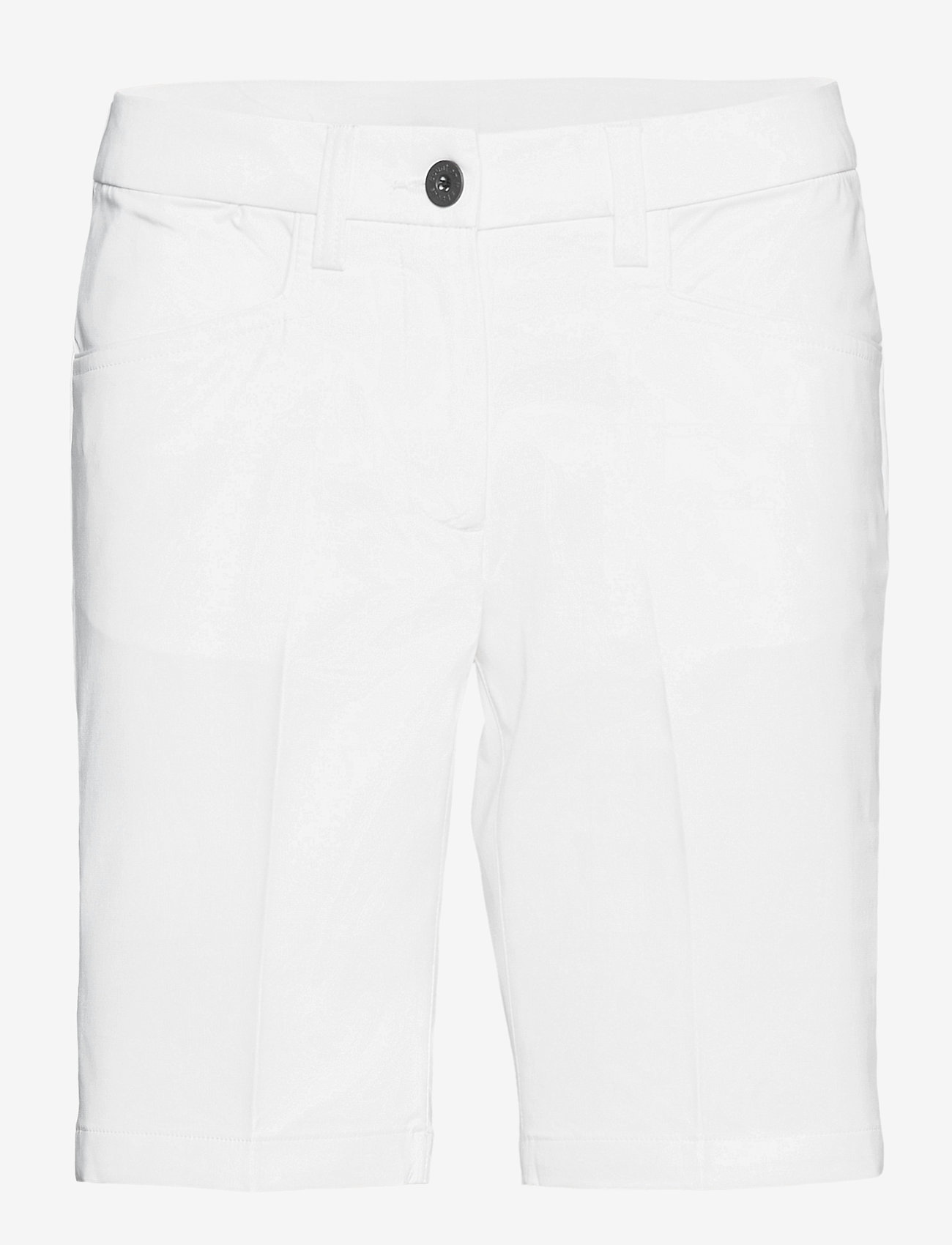 Abacus - Lds Cleek stretch shorts 46cm - golfshorts - white - 0