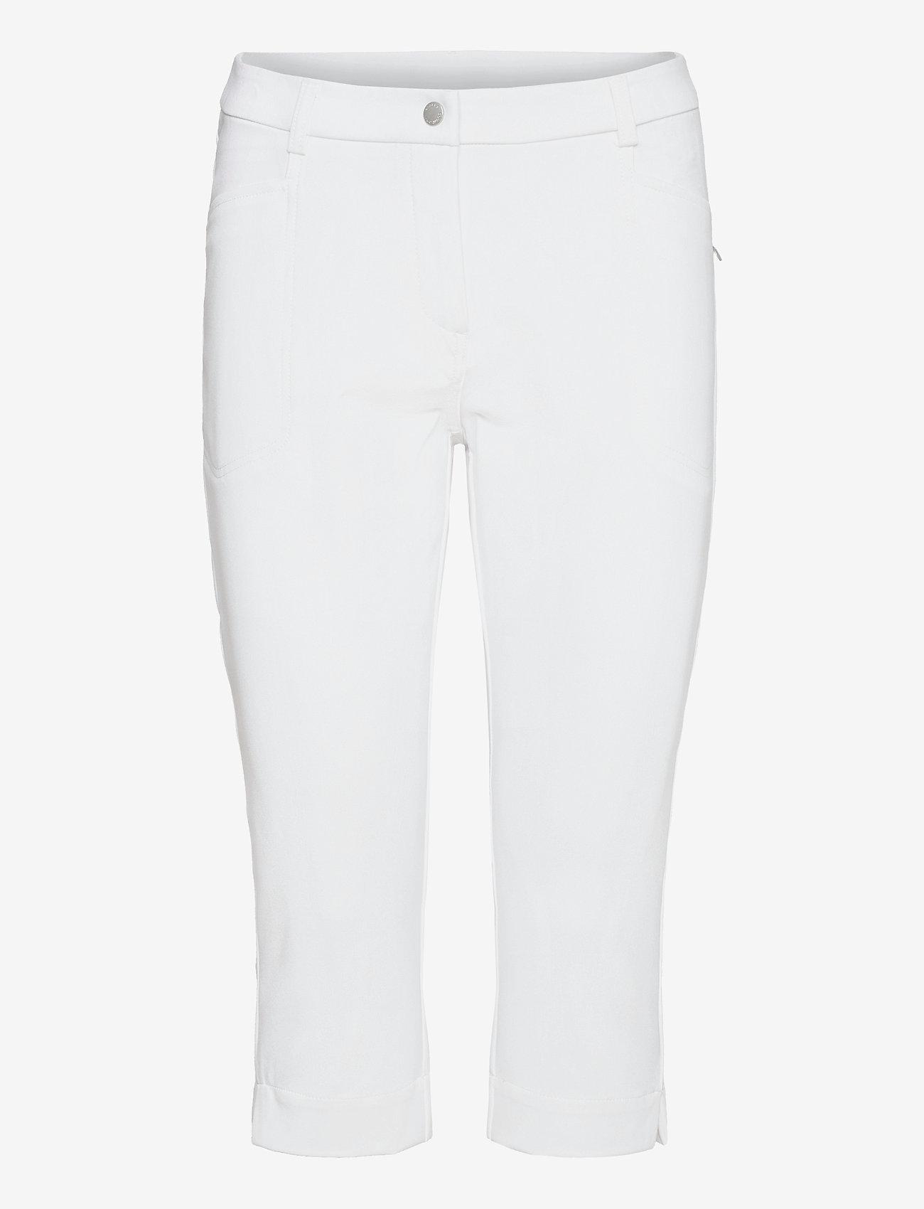 Abacus - Lds Grace capri 70 cm - golfbroeken - white - 0