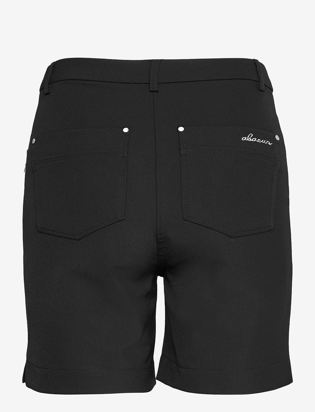 Abacus - Lds Grace high waist shorts 45cm - golfbroeken - black - 1