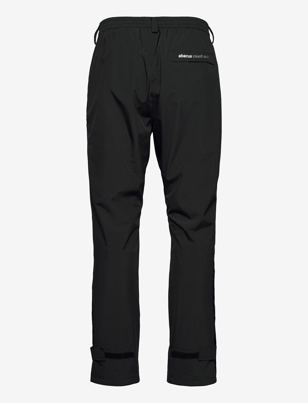 Abacus - Mens Links raintrousers - golf-housut - black - 1