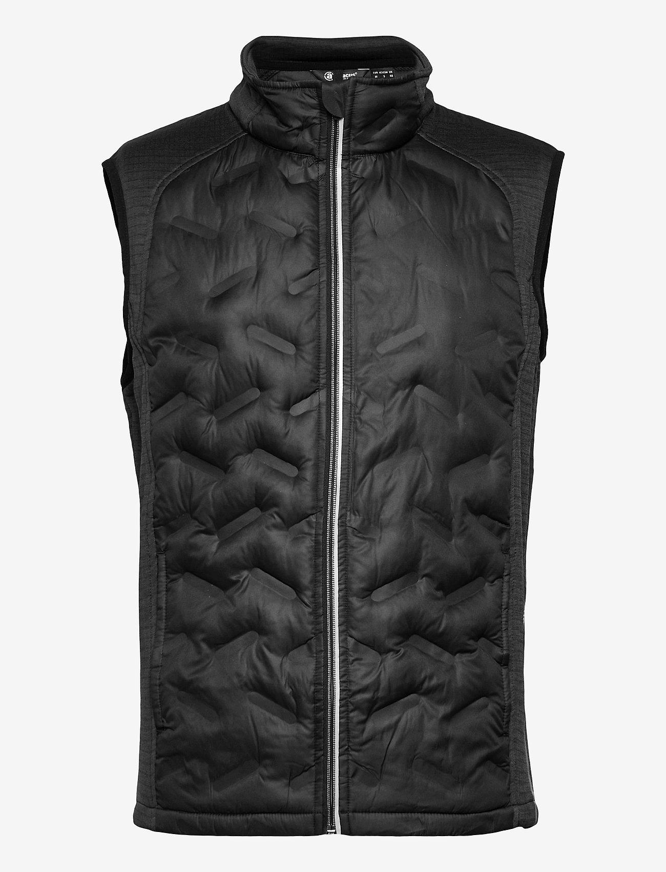 Abacus - Mens Dunes hybrid vest - golf jackets - black - 0