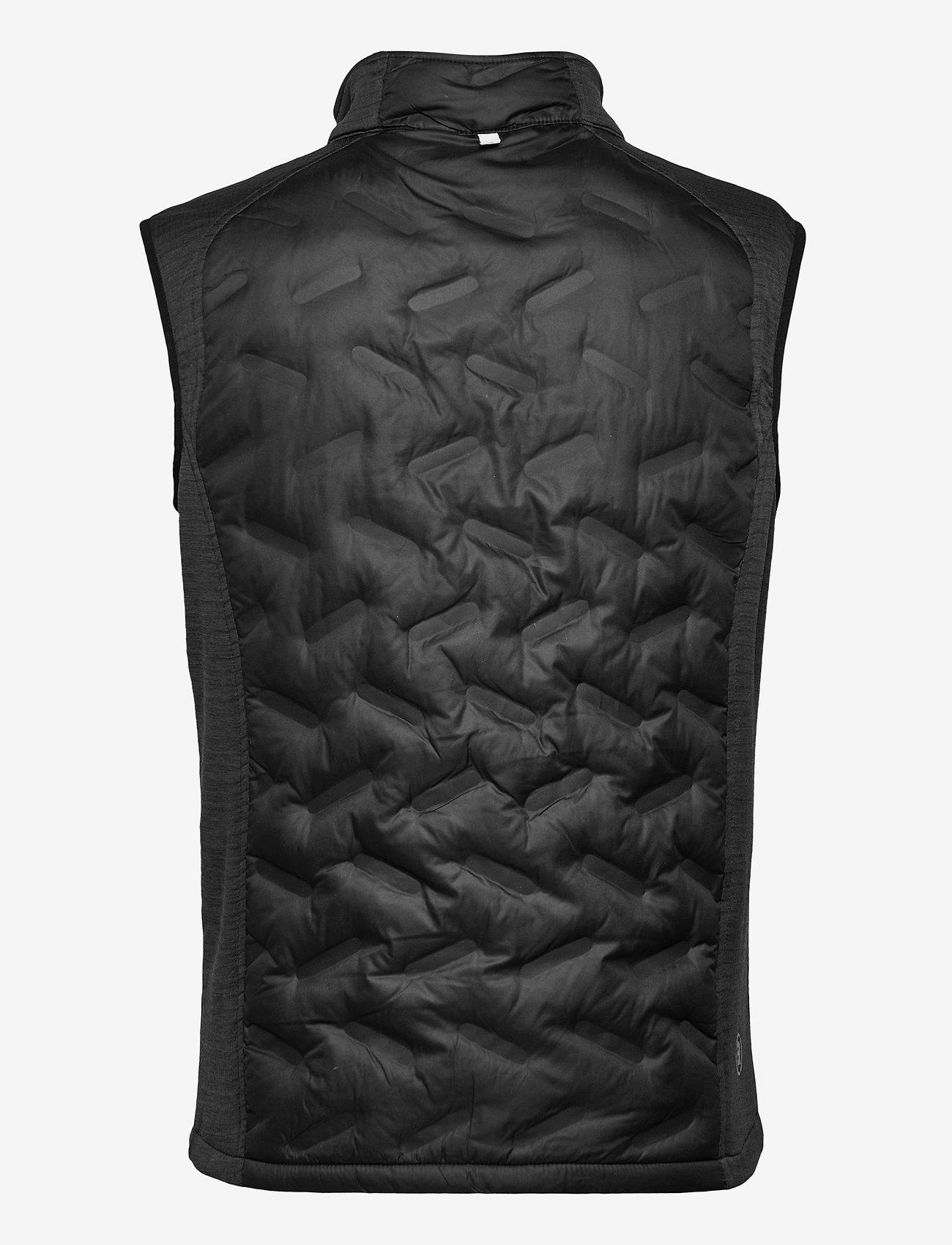 Abacus - Mens Dunes hybrid vest - golf jackets - black - 1