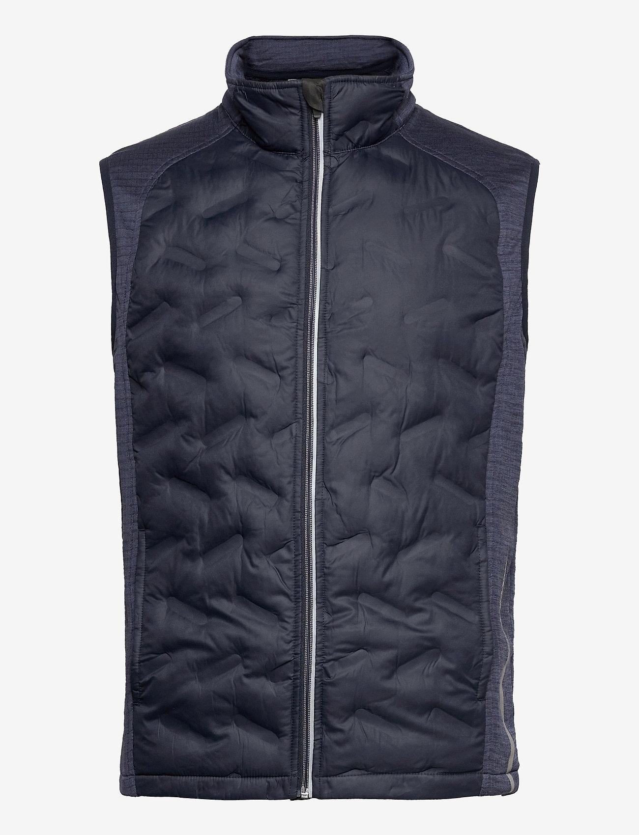Abacus - Mens Dunes hybrid vest - golf jackets - navy - 0