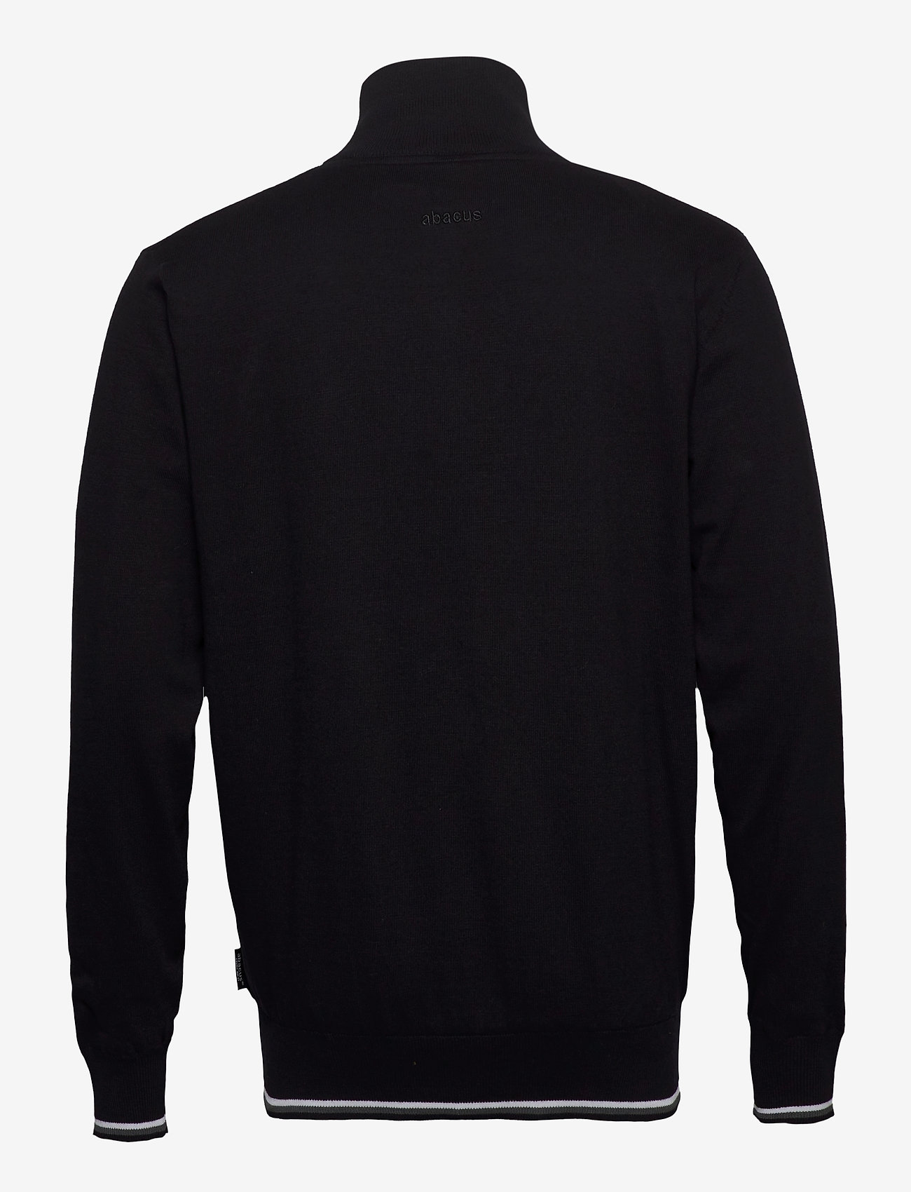 Abacus Mens Dubson windstop pullover - Strikkevarer BLACK - Menn Klær