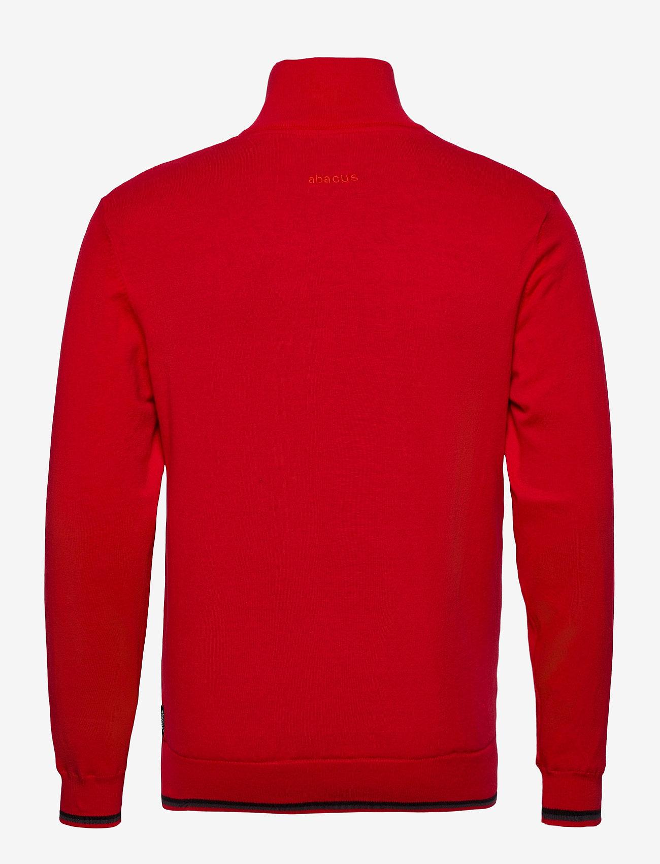Abacus Mens Dubson windstop pullover - Strikkevarer RED - Menn Klær