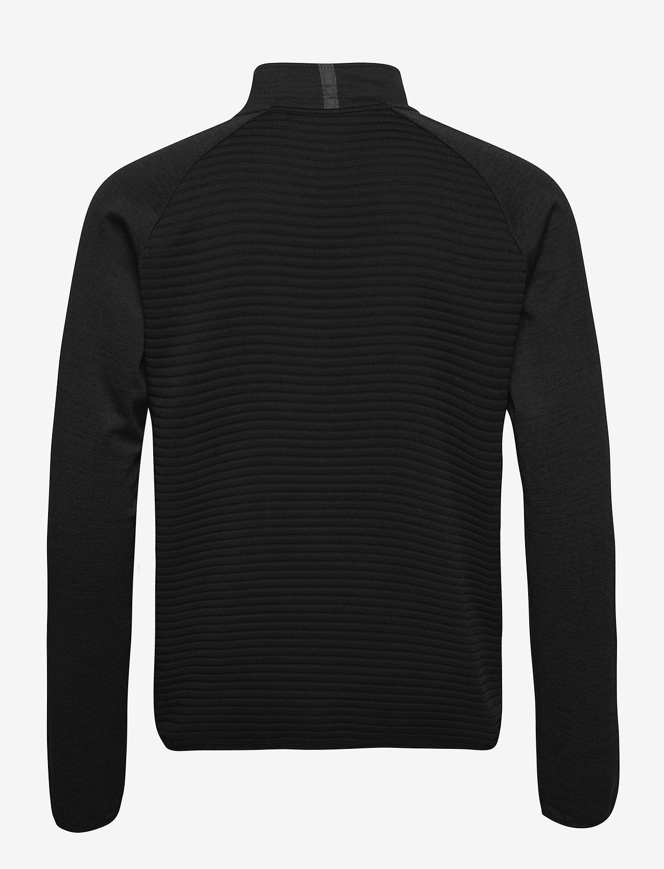 Abacus - Mens Turnberry 3D stripe fleece fullzip - golf jackets - black - 1