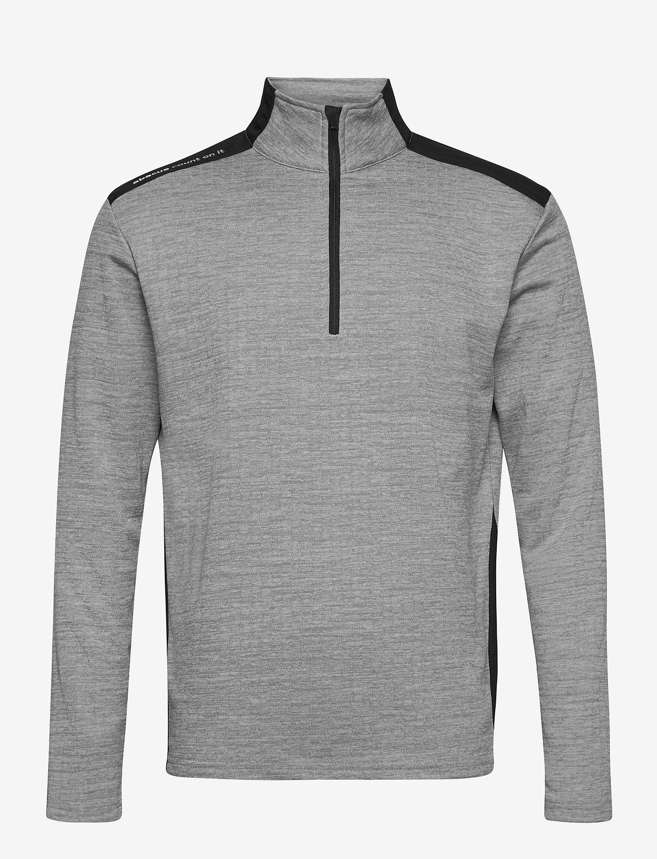 Abacus - Mens Sunningdale halfzip - golf jackets - lt.grey/black - 0