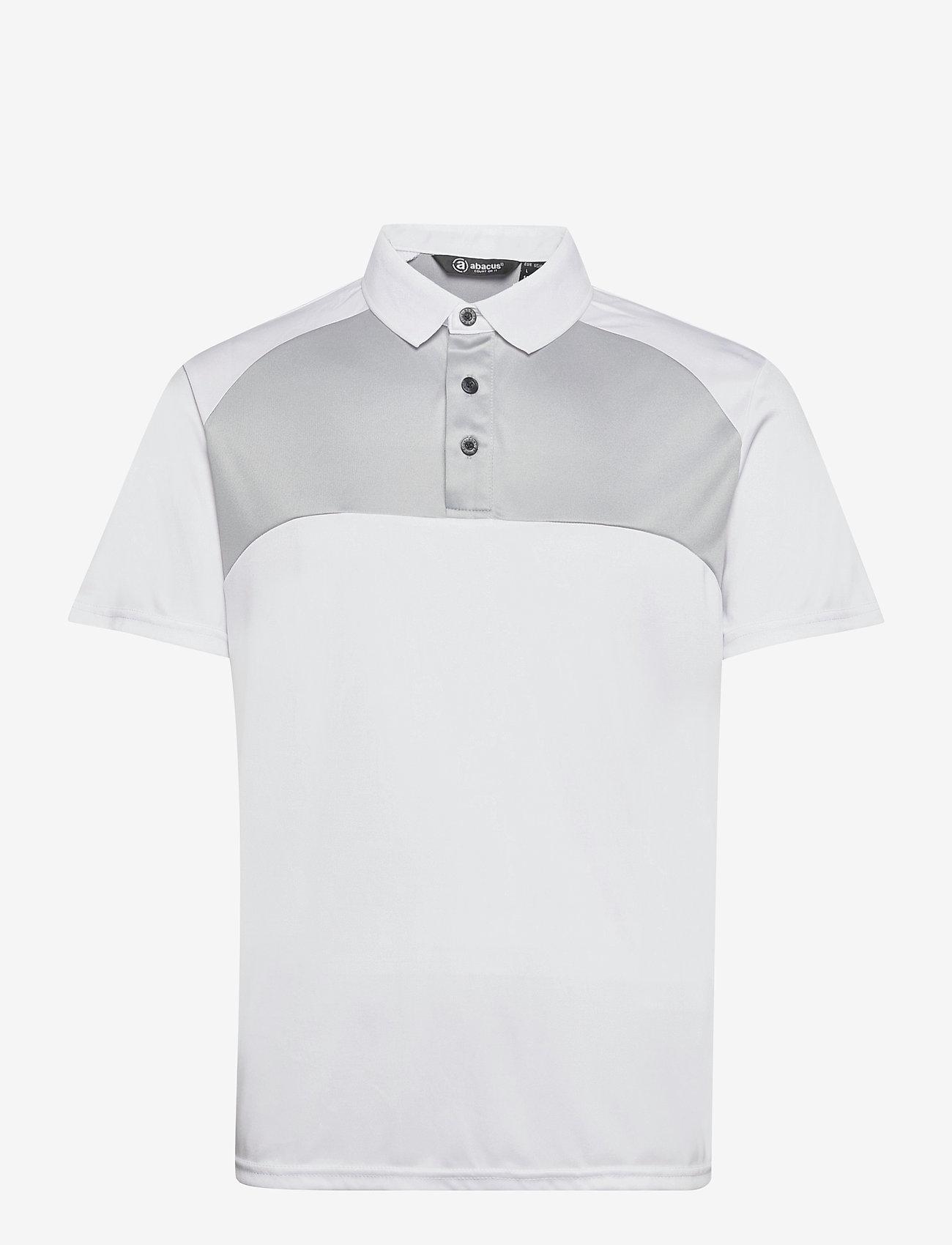Abacus - Mens Pennard polo - t-shirts - white/lt.grey - 0
