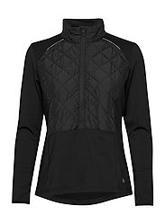 Lds Troon hybrid 1/2 zip - BLACK