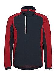 Mens Links rainjacket - NAVY/RED