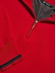 Abacus - Mens Dubson windstop pullover - half zip - red - 2