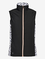 Abacus - Lds Ganton windvest - puffer vests - black/white - 0