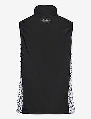 Abacus - Lds Ganton windvest - puffer vests - black/white - 1