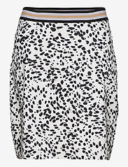 Lds Anne skort 50cm - BLACK/WHITE