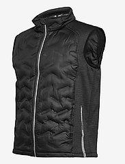 Abacus - Mens Dunes hybrid vest - golf jackets - black - 2