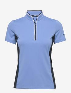 Lds dimple polo - polo's - cambridge blue