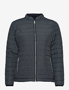 Lds Etna padded reversible jkt - golf jackets - navy