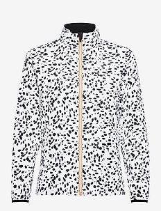 Lds Ganton wind jacket - kurtki golfowe - black/white