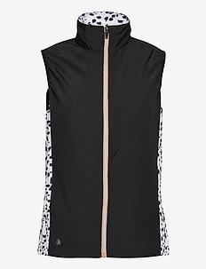 Lds Ganton windvest - vestes rembourrées - black/white