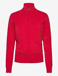 Lds Dubson windstop cardigan - sweatshirts - red