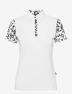 Lds Anne polo - poloer - black/white