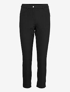 Lds Grace high waist 7/8 trousers 92cm - golf-housut - black