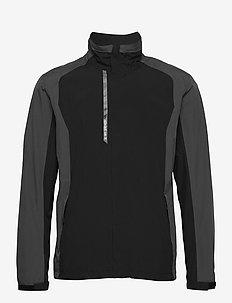 Mens Links rainjacket - golftakit - black/grey