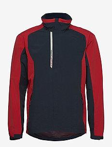 Mens Links rainjacket - golfjakker - navy/red