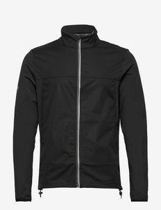 Mens Dornoch softshell hybrid  jacket - anoraks - black