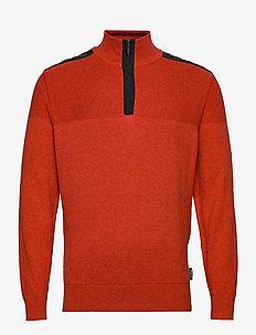 Mens Dover windstop pullover - COPPER