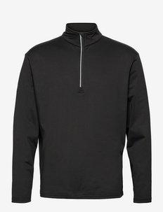 Mens Dunbar halfzip fleece - långärmade tröjor - black