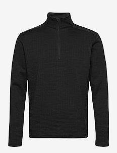 Mens Sunningdale halfzip - golfjakker - black