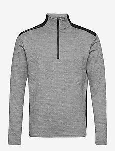 Mens Sunningdale halfzip - golfjakker - lt.grey/black