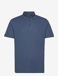 Mens Cray drycool polo - polo's - steelblue