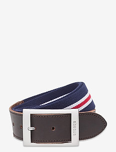 Mens Saunton belt - sportriemen - navy/red