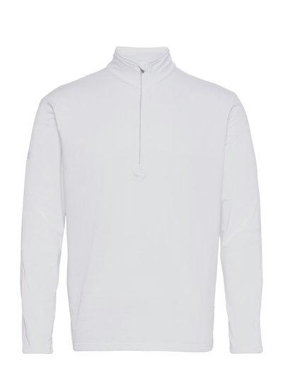 Mens Dunbar halfzip fleece - top met lange mouwen - white