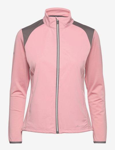 Lds Navan softshell hybrid jkt - golf jassen - rosebud