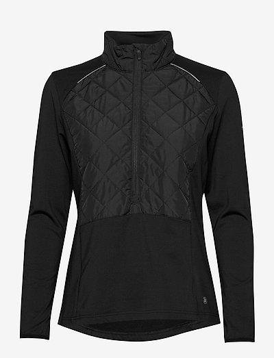 Lds Troon hybrid 1/2 zip - fleece - black