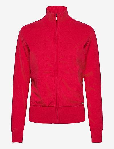 Lds Dubson windstop cardigan - gebreid - red