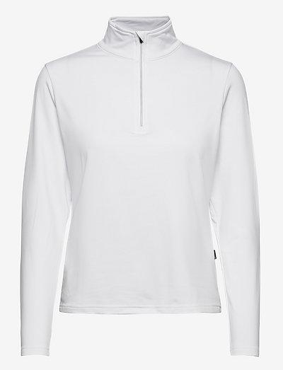 Lds Dunbar halfzip fleece - topjes met lange mouwen - white
