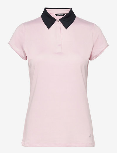 Lds Crystal cupsleeve - polo's - lt.pink