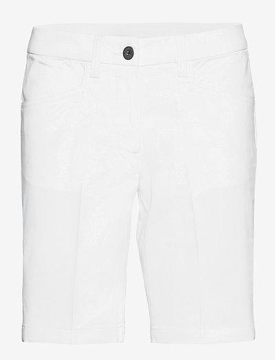 Lds Cleek stretch shorts 46cm - golfbroeken - white