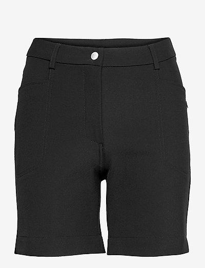 Lds Grace high waist shorts 45cm - golfbroeken - black