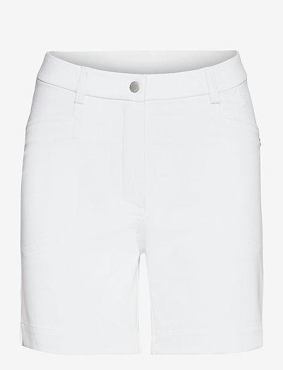 Lds Grace high waist shorts 45cm - golfbroeken - white