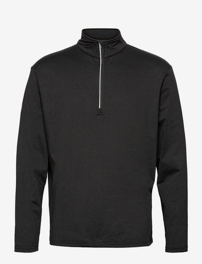 Mens Dunbar halfzip fleece - top met lange mouwen - black