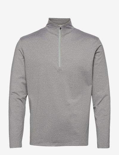Mens Dunbar halfzip fleece - top met lange mouwen - lt.greymelange