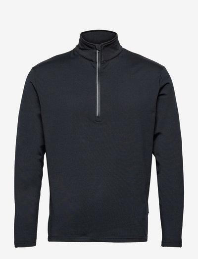 Mens Dunbar halfzip fleece - top met lange mouwen - navy