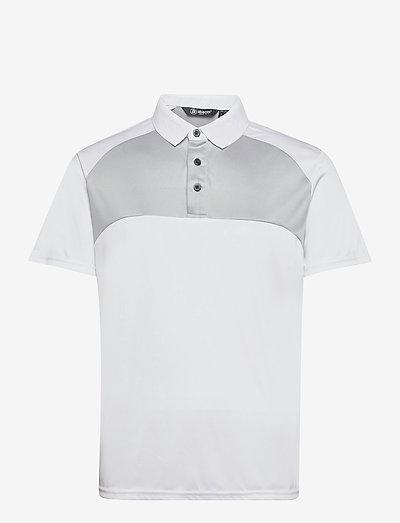 Mens Pennard polo - t-shirts - white/lt.grey