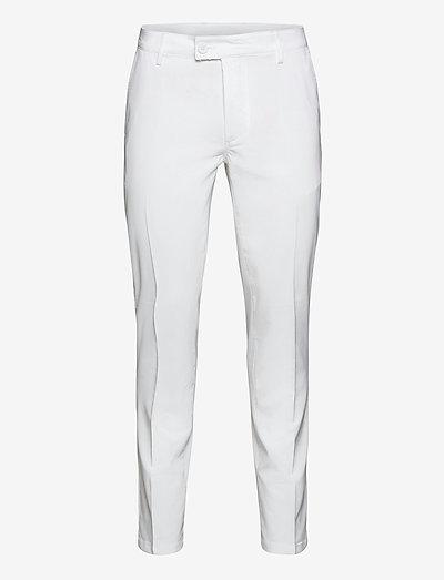 Mens Cleek stretch trousers - golfhosen - white